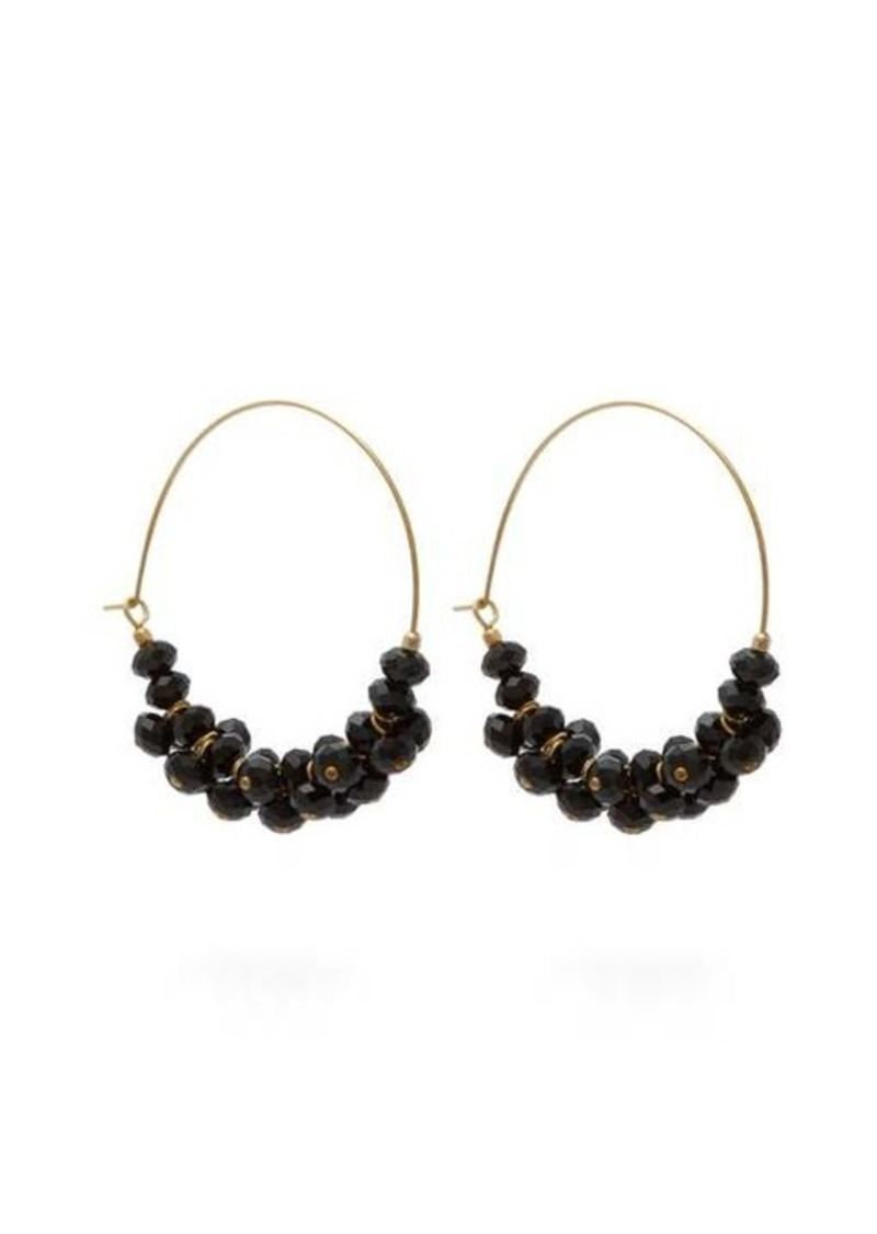 Isabel Marant Crystal-embellished hoop earrings