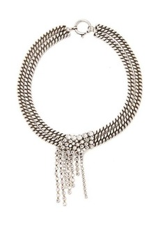 Isabel Marant Crystal-strand double-chain necklace