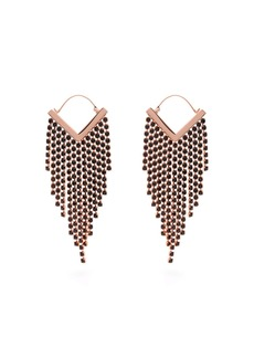 Isabel Marant Crystal-fringed V-shape earrings
