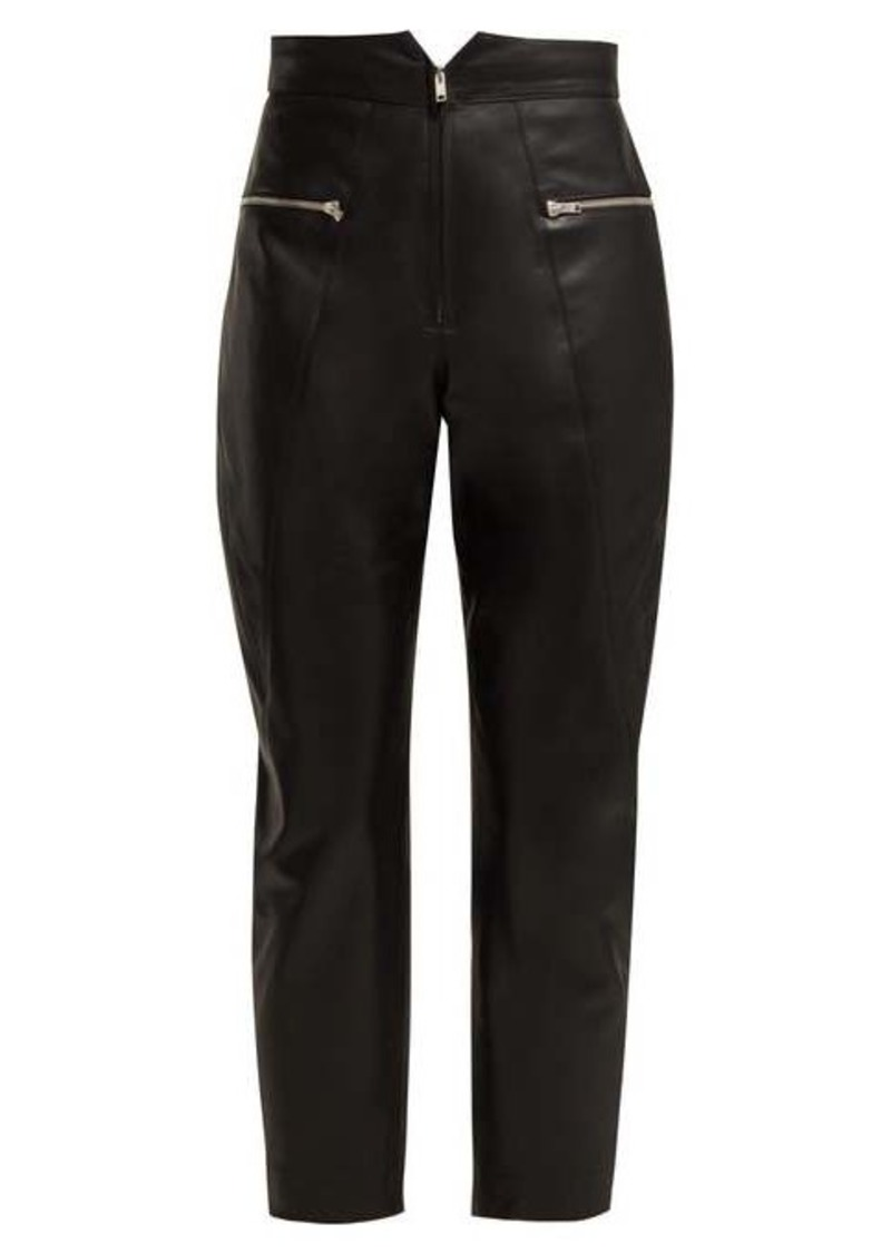 Isabel Marant Cyril cropped leather trousers