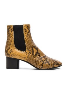 Isabel Marant Danae Printed Python Booties
