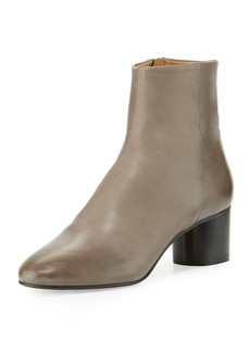 Isabel Marant Danay Burnished Leather Ankle Boot