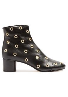 Isabel Marant Danay eyelet-embellished leather ankle boots