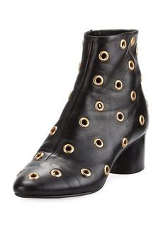 Isabel Marant Danay Studded Block-Heel Bootie