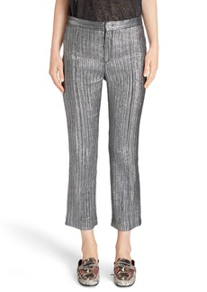 Isabel Marant Dansley Party Time Lamé Crop Pants