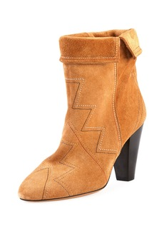 Isabel Marant Darilay Zigzag-Stitched Suede Boots