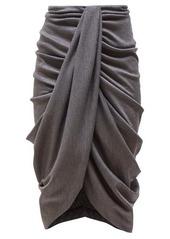 Isabel Marant Datisace draped wool-jersey midi skirt