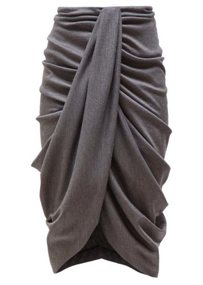 Isabel Marant Datisace draped wool-jersey midi skirt