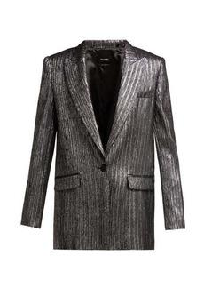 Isabel Marant Datja metallic single-breasted blazer