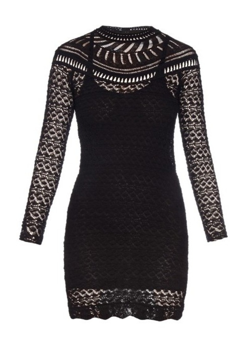 Isabel Marant Davy long-sleeved crochet-knit dress