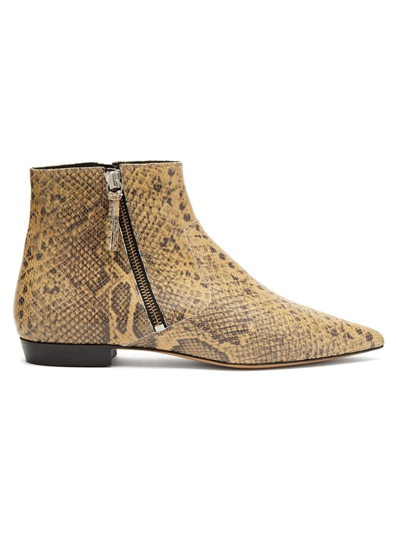 19952fde909 Isabel Marant Isabel Marant Dawie python-print leather ankle boots