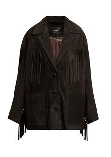 Isabel Marant Daya fringe-trimmed suede jacket