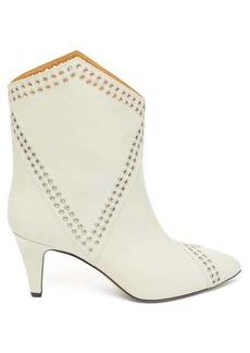 Isabel Marant Demka eyelet-embellished leather ankle boots