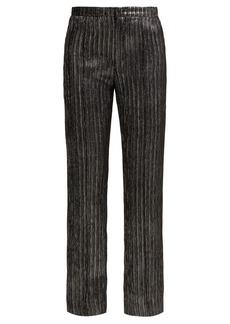 Isabel Marant Denlo cropped lamé trousers