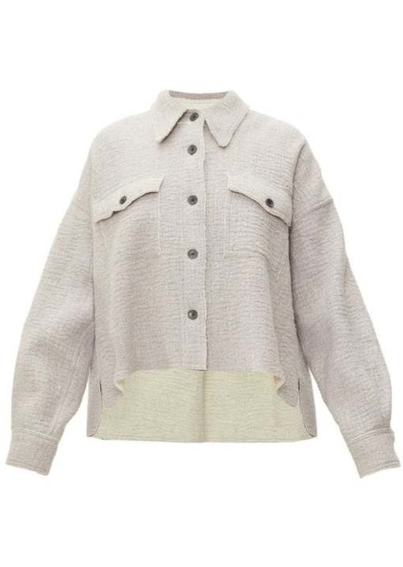 Isabel Marant Dennao point-collar wool shirt