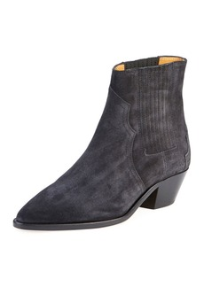Isabel Marant Derlyn Suede Pull-On Bootie