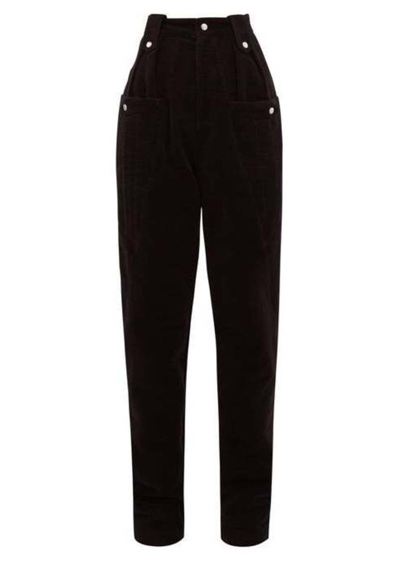 Isabel Marant Derrisy high-rise cotton-moleskin trousers