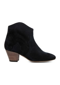 Isabel Marant Dicker Calfskin Velvet Leather Booties