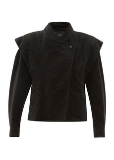 Isabel Marant Dina double-breasted cotton-moleskin jacket
