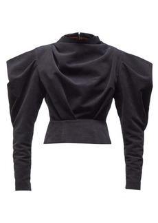 Isabel Marant Dixon draped velvet top