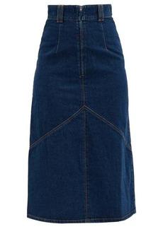 Isabel Marant Domano high-rise panelled denim skirt