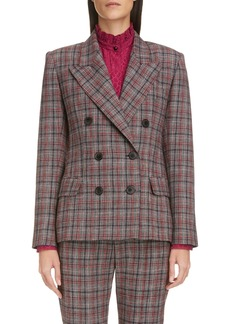 Isabel Marant Double Breasted Plaid Blazer