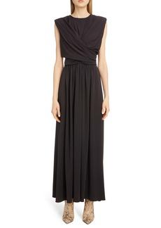 Isabel Marant Drape Bodice Jersey Maxi Dress