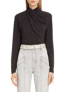 Isabel Marant Drape High Neck Jersey Top