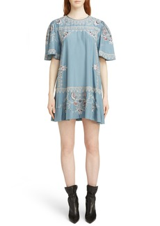 Isabel Marant Dryna Embroidered Silk Dress