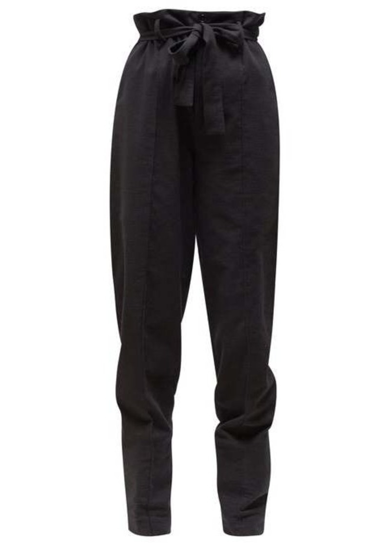 Isabel Marant Durner paperbag-waist wool trousers
