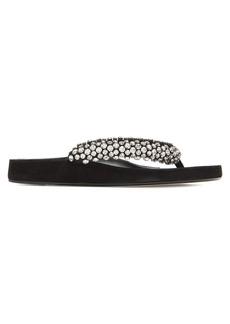 Isabel Marant Elabel crystal-embellished leather sandals