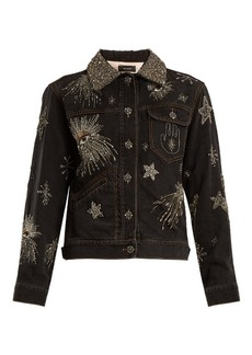 Isabel Marant Eloise crystal-embellished denim jacket