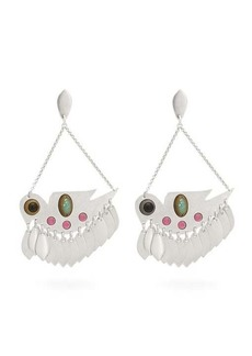 Isabel Marant Embellished bird-pendant earrings