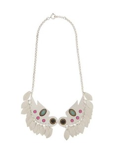 Isabel Marant Embellished bird-pendant necklace