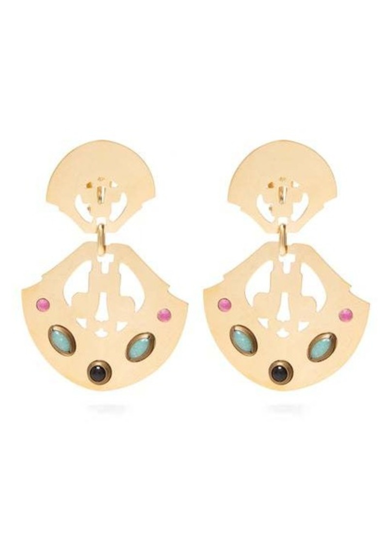 Isabel Marant Embellished cut-out clip earrings