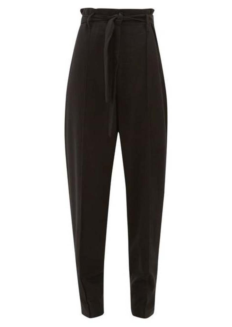 Isabel Marant Emilia paperbag-waist crepe trousers