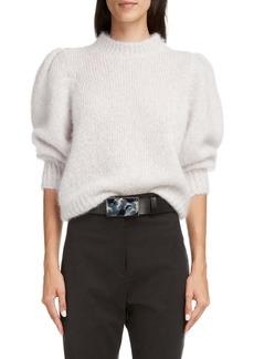 Isabel Marant Emma Puff Sleeve Mohair Blend Sweater