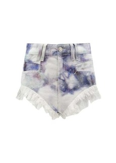 Isabel Marant Eneida high-rise tie-dye denim shorts