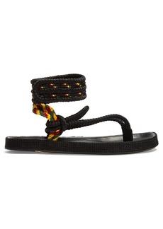 Isabel Marant Epipa plaited-canvas Velcro-fastening sandals