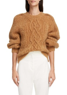 Isabel Marant Esmee Cable Crewneck Sweater