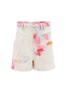 Isabel Marant Esquia high-rise tie-dye cotton shorts