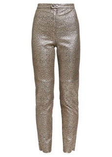 Isabel Marant Etienne leopard-print leather trousers