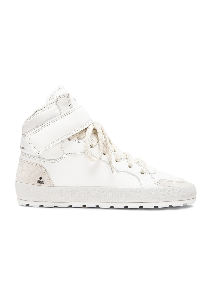 Isabel Marant Etoile Bessy Hip Hop Leather Sneakers