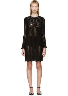 Isabel Marant Etoile Black Crocheted Hariett Dress