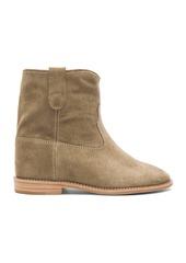 Isabel Marant Etoile Crisi Calfskin Velvet Leather Boots