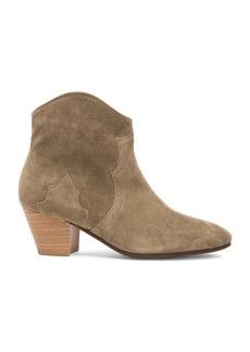 Isabel Marant Etoile Dicker Calfskin Velvet Leather Boots