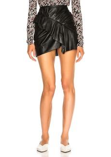Isabel Marant Etoile Faux Leather Zeist Skirt