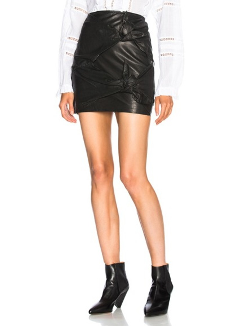 998aa44ba29 Etoile Gritanny Washed Leather Knotted Skirt