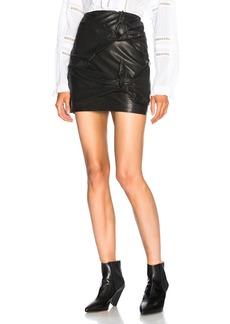 Isabel Marant Etoile Gritanny Washed Leather Knotted Skirt