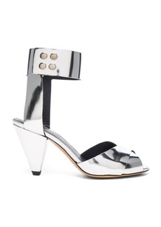 Isabel Marant Etoile Leather Meegan Metallic Heels